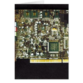 Circuit Board 2 Lateral Canvas Design Card