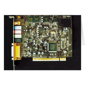 Circuit Board 2 Lateral Canvas Design Card