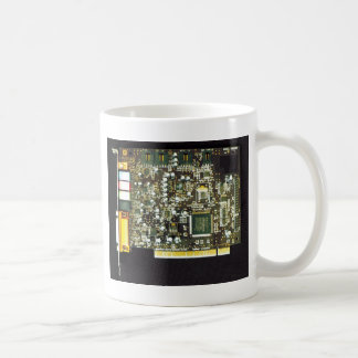 Circuit Board 2 Lateral Canvas Design Coffee Mug