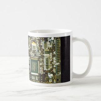 Circuit Board 2 Lateral Canvas Design Coffee Mugs