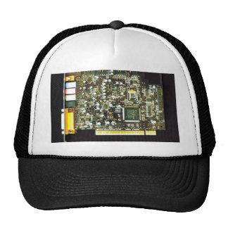 Circuit Board 2 Lateral Canvas Design Hats