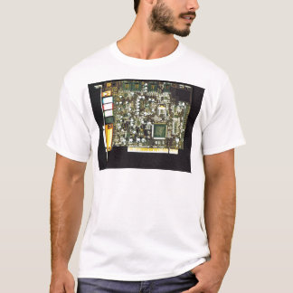 Circuit Board 2 Lateral Canvas Design T-Shirt