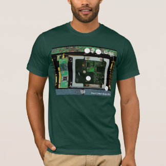 Circuit Board 3 Lateral Canvas Design T-Shirt
