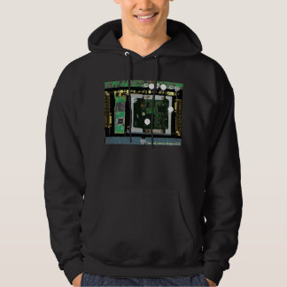 Circuit Board 4 Lateral Canvas Design Hoodie