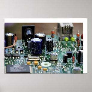 Circuit Board Art & Framed Artwork | Zazzle