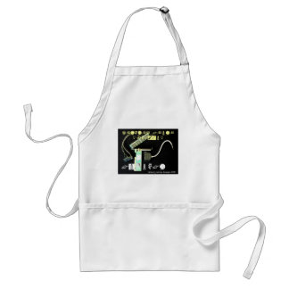Circuit Board 5 Lateral Canvas Adult Apron