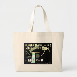 Circuit Board 5 Lateral Canvas Tote Bag