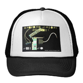 Circuit Board 5 Lateral Canvas Trucker Hats