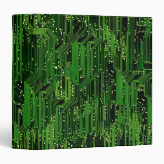 Circuit board background 3 ring binder