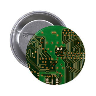 circuit board background badge 2 inch round button