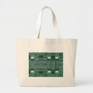 Circuit Board Background Jumbo Tote Bag