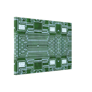 Circuit Board Background Canvas Print