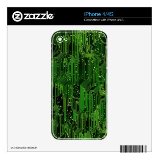 Circuit board background decals for iPhone 4S