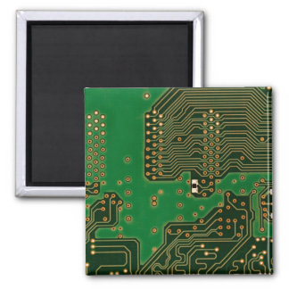 circuit board background  fridge magnet