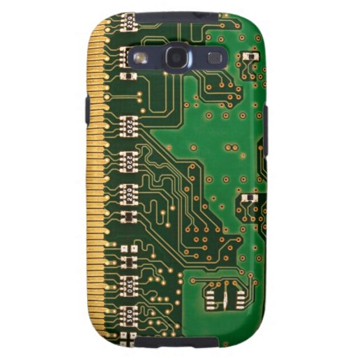 Circuit board background Galaxy S case Galaxy SIII Cases