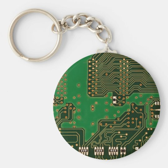 circuit board background key chain
