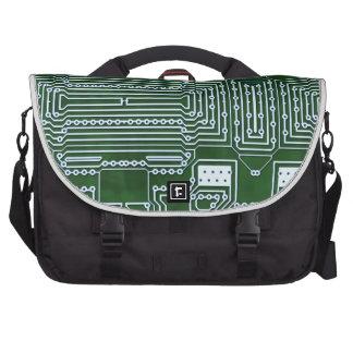 Circuit Board Background Laptop Commuter Bag