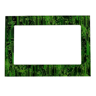 Circuit board background magnetic photo frame