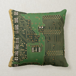 Circuit board background pillow