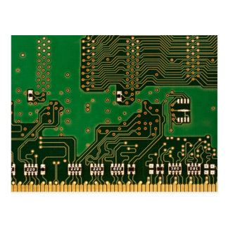 circuit board background postcard