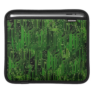 Circuit board background sleeves for iPads