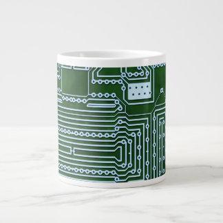 Circuit Board Background Extra Large Mug