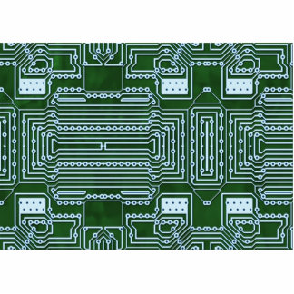 Circuit Board Background Statuette