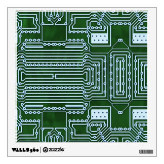 Circuit Board Background Wall Decal