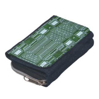 Circuit Board Background Wallets