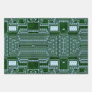 Circuit Board Background Signs