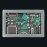 "Circuit board belt buckle<br><div class=""desc"">Fun printed circuit board design.</div>"