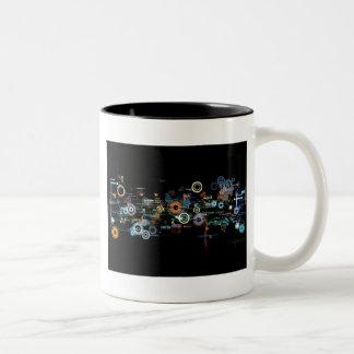 Circuit Board - Black Two-Tone Coffee Mug