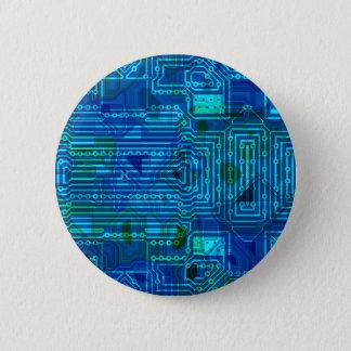 Circuit Board Blue Button