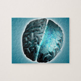 Circuit Board Brain 2 Jigsaw Puzzle
