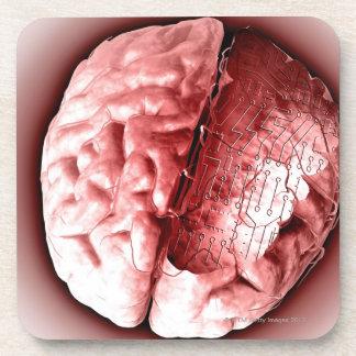 Circuit Board Brain Coaster