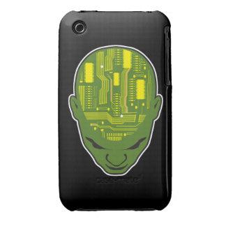 circuit board brain geek head iPhone 3 covers