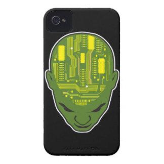 circuit board brain geek head iPhone 4 covers