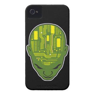 circuit board brain geek head iPhone 4 Case-Mate case