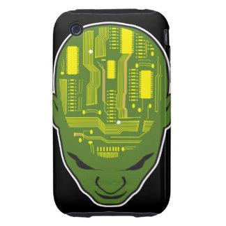circuit board brain geek head iPhone 3 tough cover