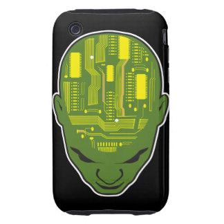 circuit board brain geek head tough iPhone 3 covers
