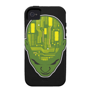 circuit board brain geek head iPhone 4 cover