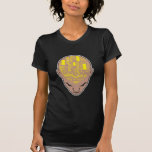 circuit board brain head yellow tee shirts