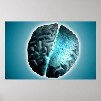 Circuit Board Brain Poster