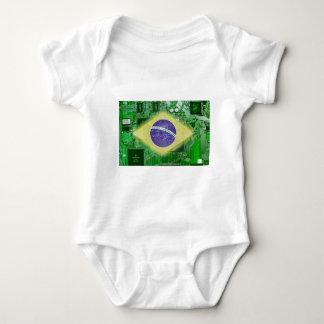circuit board Brazil Baby Bodysuit