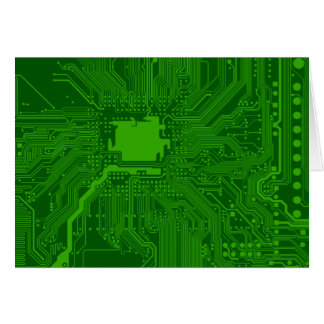 Circuit Board Greeting Cards