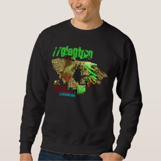 Circuit Board City Scape - Fashionable Sweatshirt