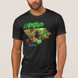 Circuit Board City Scape - Fashionable T-Shirt