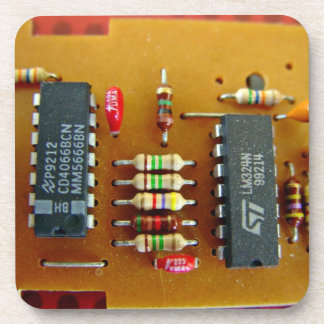 Circuit board beverage coasters