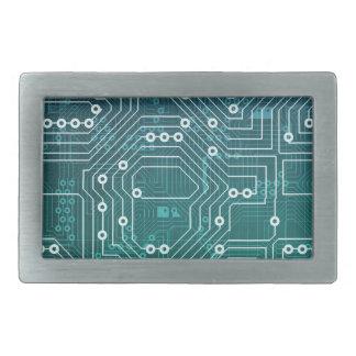 Circuit Board Data Network Belt Buckle