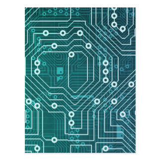 Circuit Board Data Network Postcard